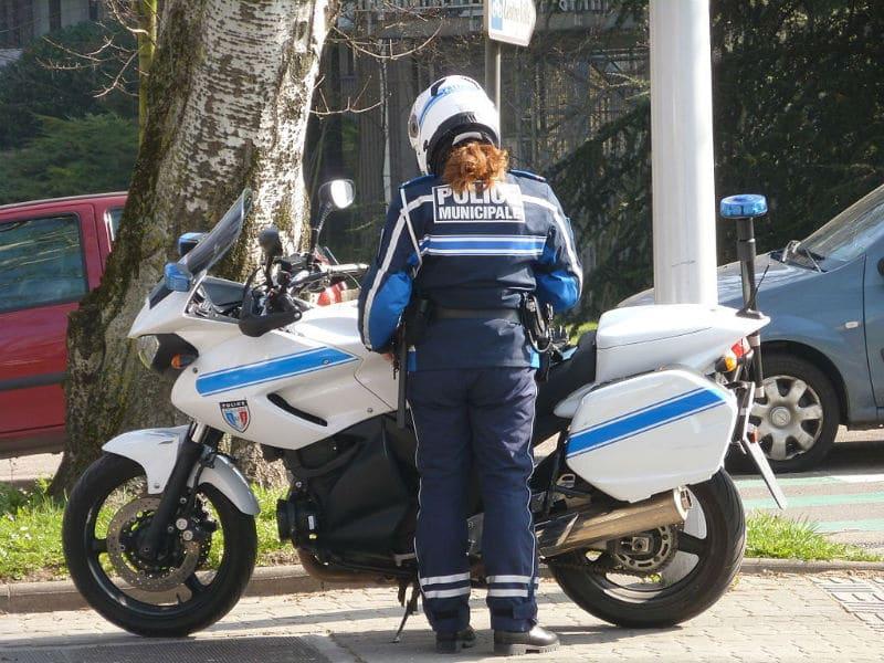 Moto de la Police Municipale