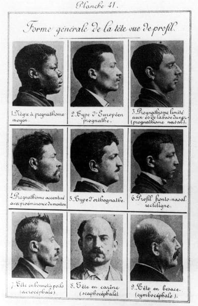 Types de criminels de Bertillon