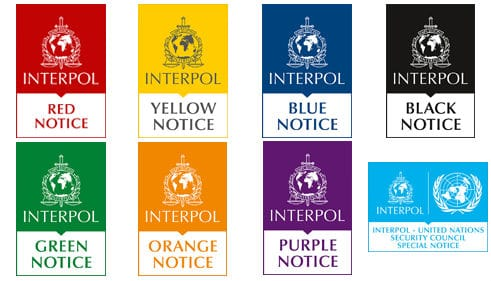 Notices Interpol