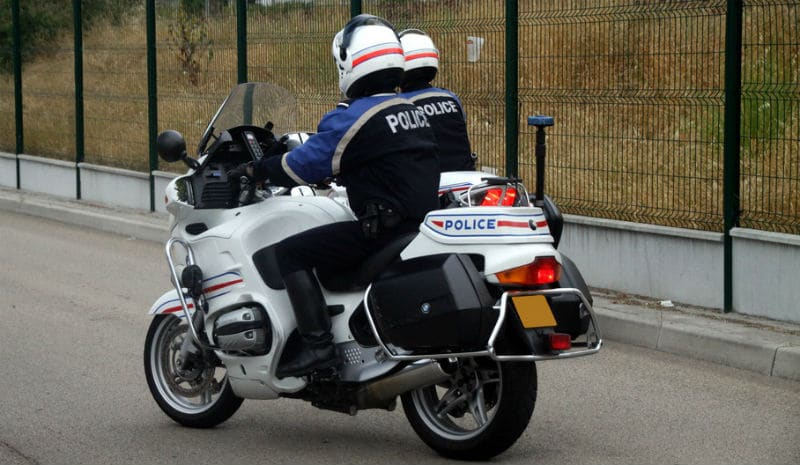 Motard de la Police Nationale