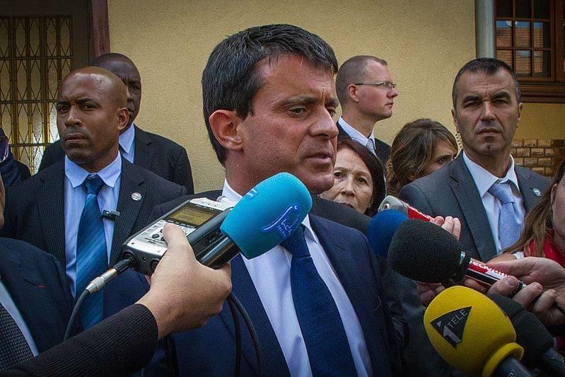 SDLP protégeant Manuel Valls