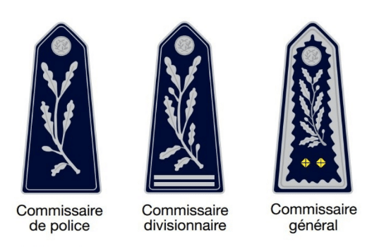 Grades du Corps de Conception et de Direction de la Police Nationale
