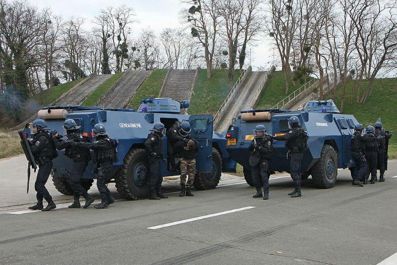 Véhicules blindés de la Gendarmerie Mobile