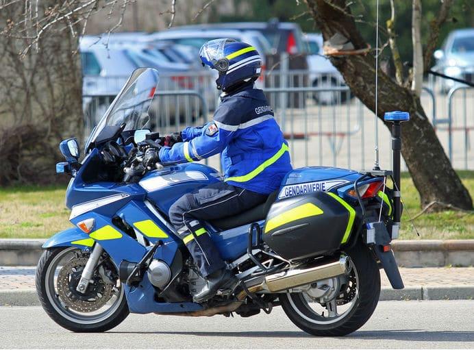 Gendarme motard de la Gendarmerie de l'Air