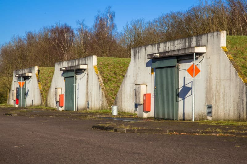 Bunker de stockage d'armement