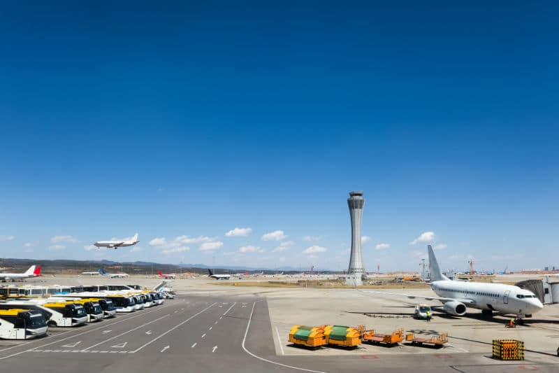 Vue d'ensemble d'un aéroport