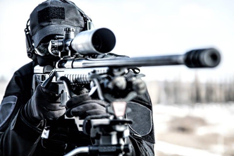 Sniper de la Brigade d'Intervention
